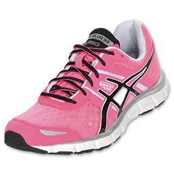 My favorite pair of running shoes! Asics Gel Blur 33 Women's Running Shoe  in Neon Pink/Black/White Birthday gift from Alex - thanks!
