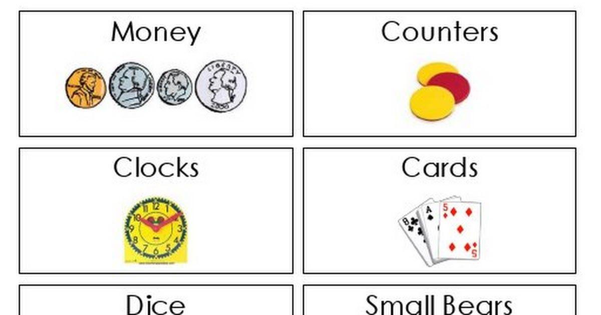 Math Labels.pdf Clock card, 1st grade math, Math