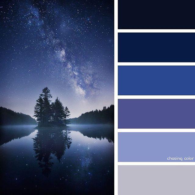 Brahma Kumaris Positive Thinking Quotes: Shades Of The Night Sky On The Lake (Photo Credit: Heaven