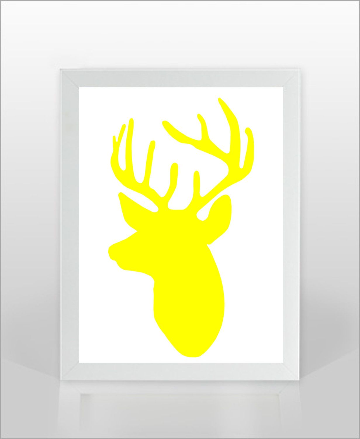 Christmas Reindeer Silhouette Print -8x10 inches-Gift for Christmas ...