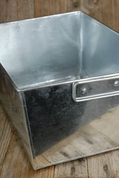 Galvanized Rectangle Tub With 2 Handles 14x10 With Liner Galvanized Tub