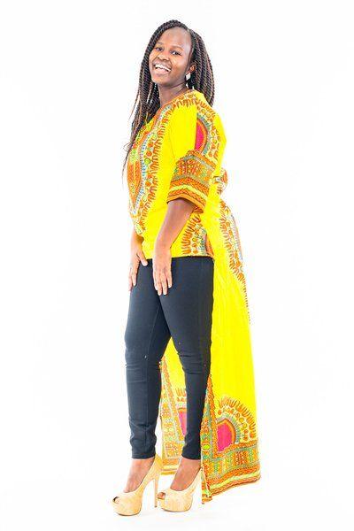 Dashki Fabric African Fashion Ankara Kitenge African: Yellow Dashiki Dress ~African Fashion, Ankara, Kitenge