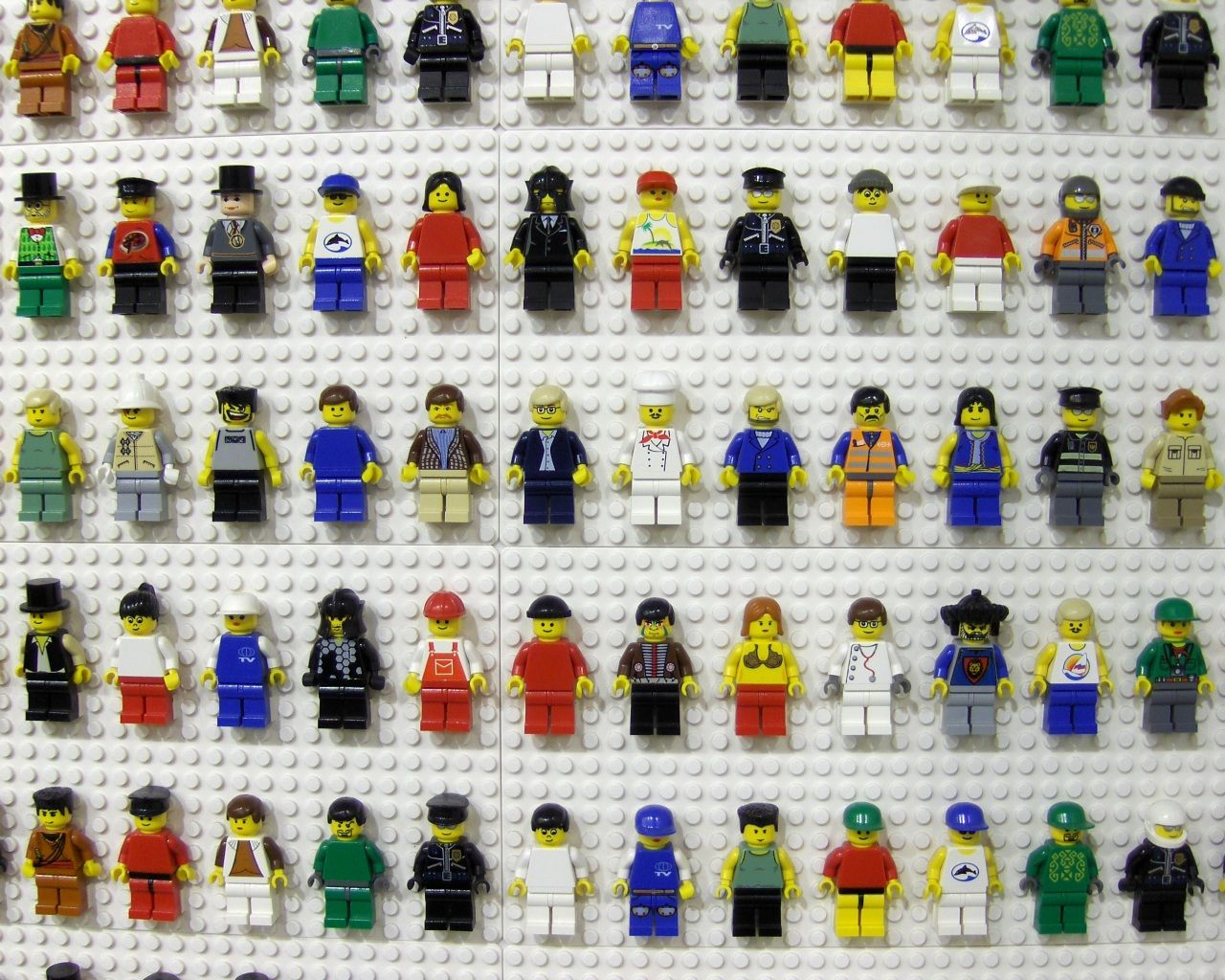 """I think we already have this many Lego guys are more...cute idea to display them and add """"art"""" to the room"""