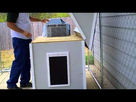 Air Condition Your Dog S House Dog House Air Conditioner Dog House Diy Air Conditioned Dog House