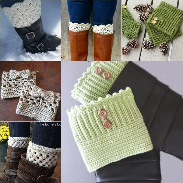 26 Wonderful Free Patterns for Crochet Boot Cuffs | Deberes, Puños y ...