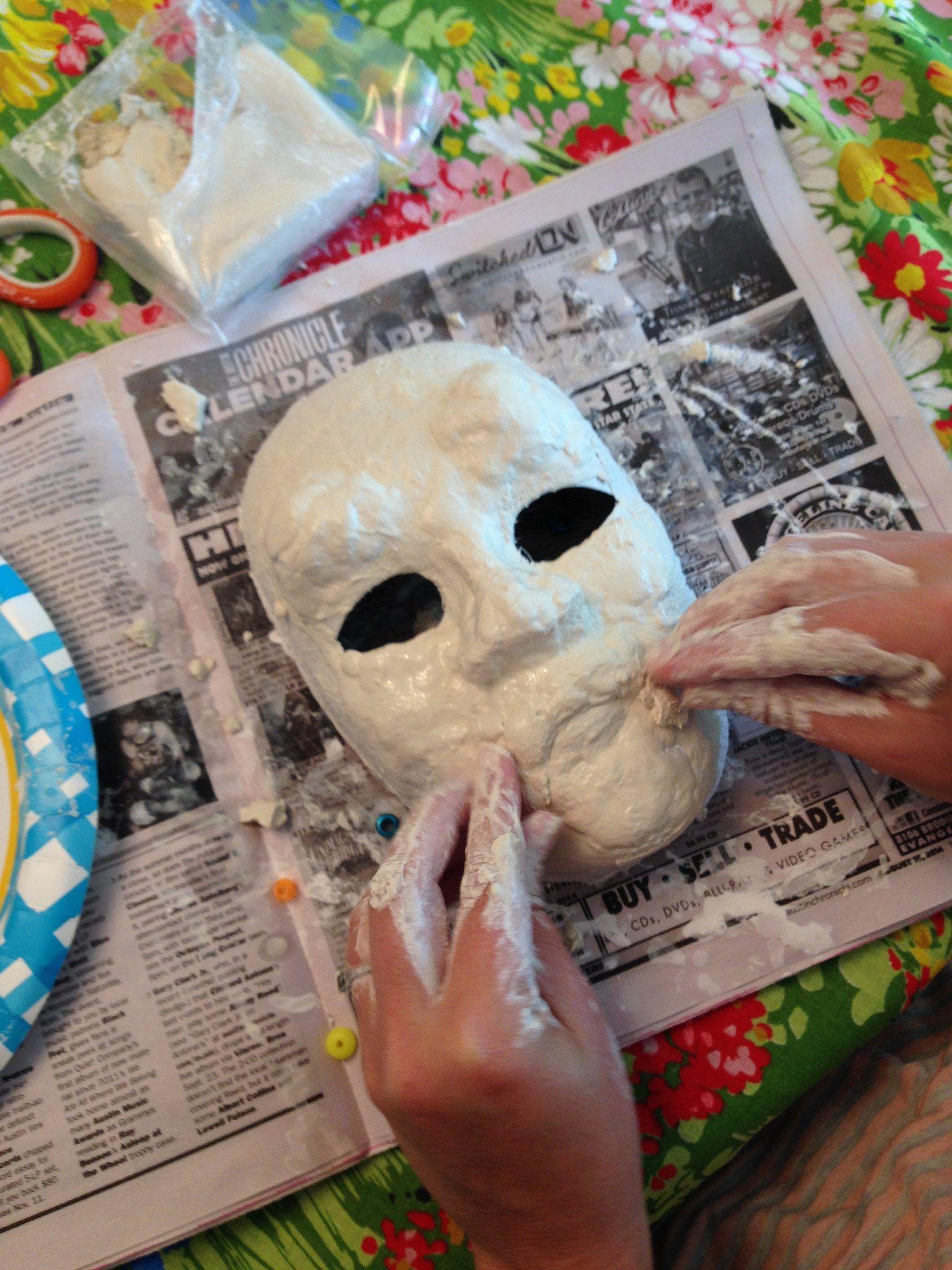 Diy Style Vintage Halloween Mask Jennifer Perkins Paper Mache Mask Diy Halloween Masks Halloween Masks
