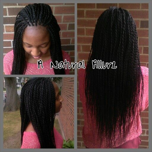 Small, waist,length Senegalese Twists using 3 packs of