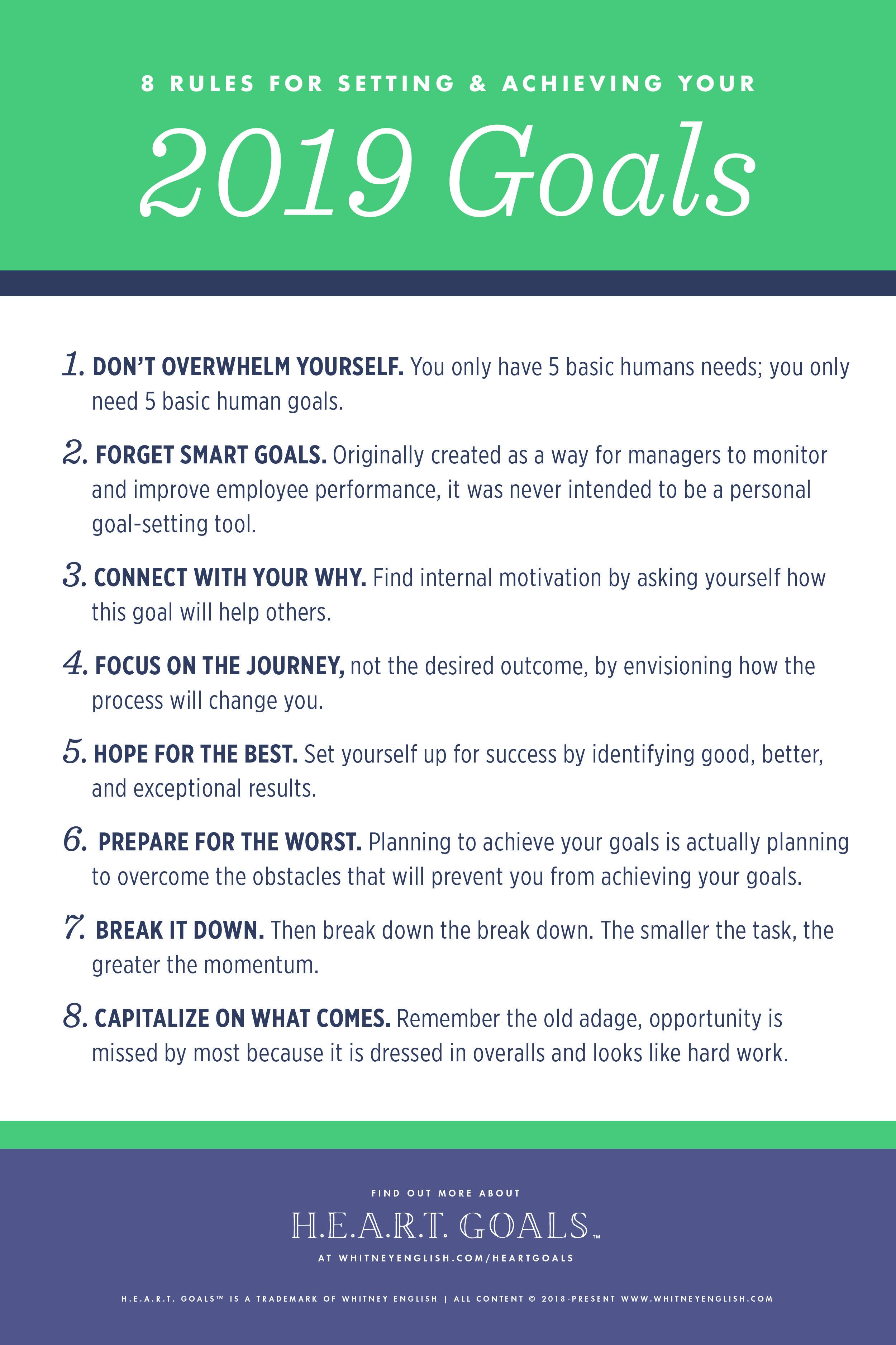 8 Rules for Goal Setting #2019Goals #goalsetting # ...