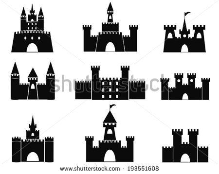 Stock Images Similar To Id 251890921 Castle Icons Set Castle Silhouette Castle Vector Modern Castle