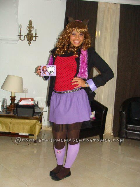 cool clawdeen wolf monster high costume - Clawdeen Wolf Halloween Costume