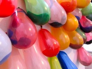 Balloons filled with paint like in the Princess Diaries. Throw darts and make art