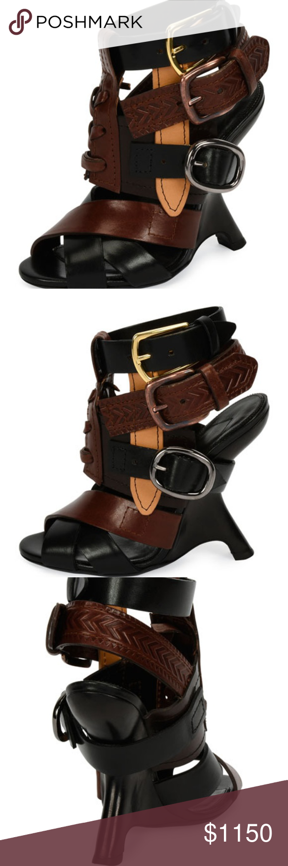 45e5e2931d1 Tom Ford Wedge Leather Sandal NWT  1950 TOM FORD leather wedge sandals.  Brand new in