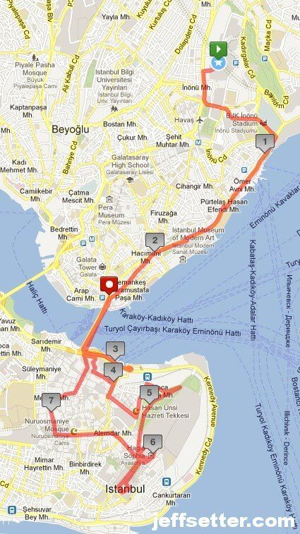 Our Istanbul Walking Tour Map Christmas in France Pinterest