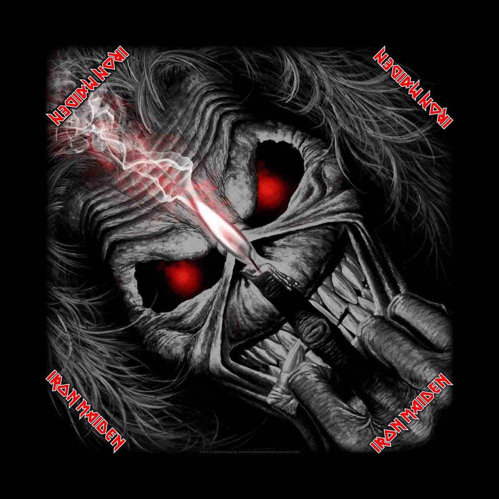 Iron Maiden Eddie | Iron Maiden Eddie Candle Finger Bandana