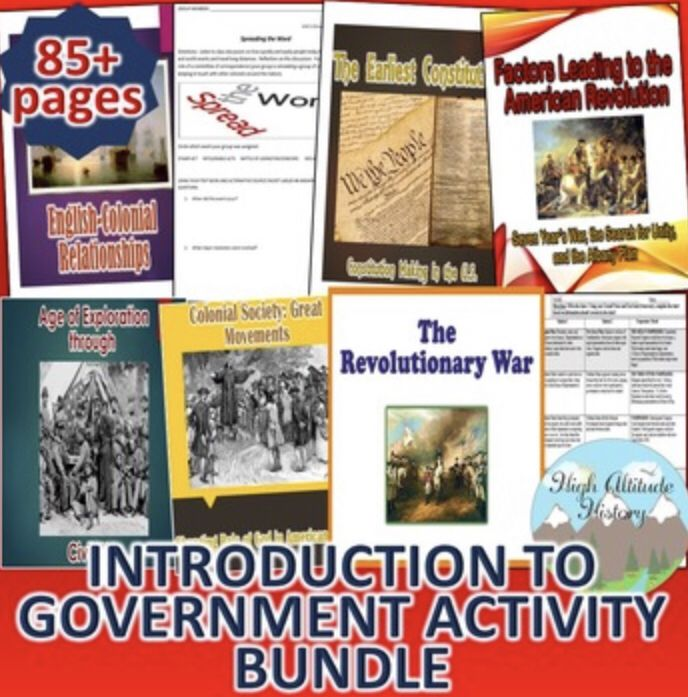 Introduction To Government Activity Bundle (With Images