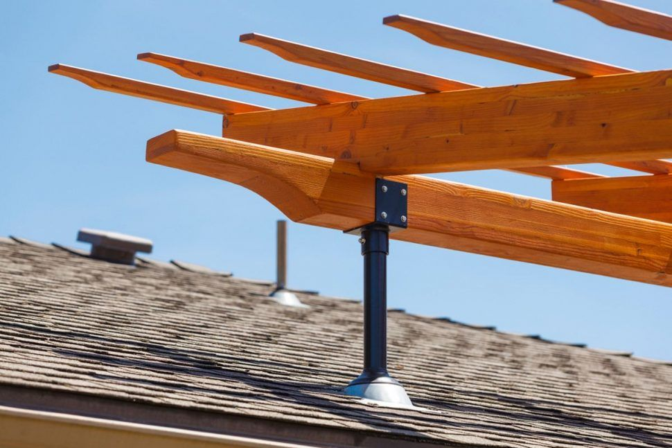 Outdoor Patio Roof Building A Pergola How To Build A Pergola Roof Extender Brackets Roof Extenda Pergola Bracket Patio Roof Riser Br Outdoor Pergola Pergola Building A Pergola