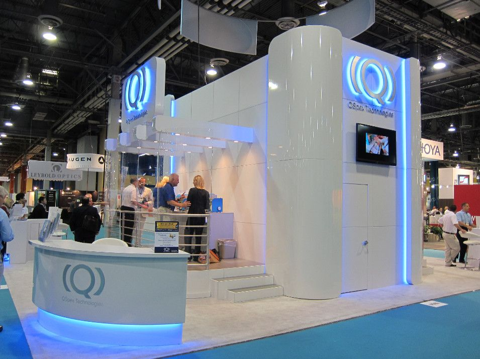 Exhibition Stand Design West Midlands : Futuristic glossy booth at visionexpo west exhibit