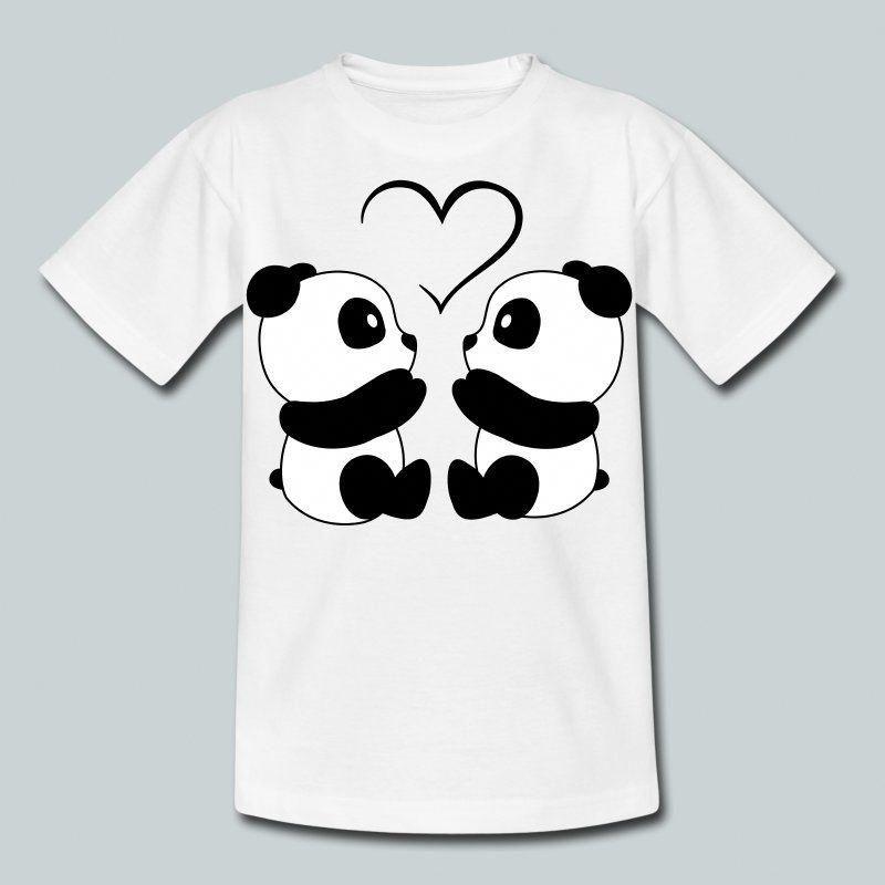 Panda Face Cool Endangered Bear Animal China Girls Unisex Kids Child T Shirt