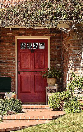 Best front door color for orange brick house google - Front door colors for brick houses ...