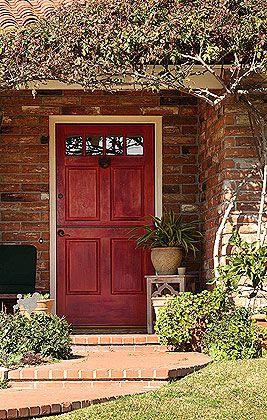 Best Front Door Color For Orange Brick House Google Search