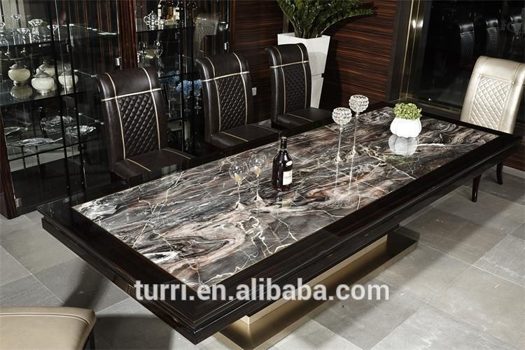Luxury Marble Top Dining Table For Living Room Furniture - Buy ...