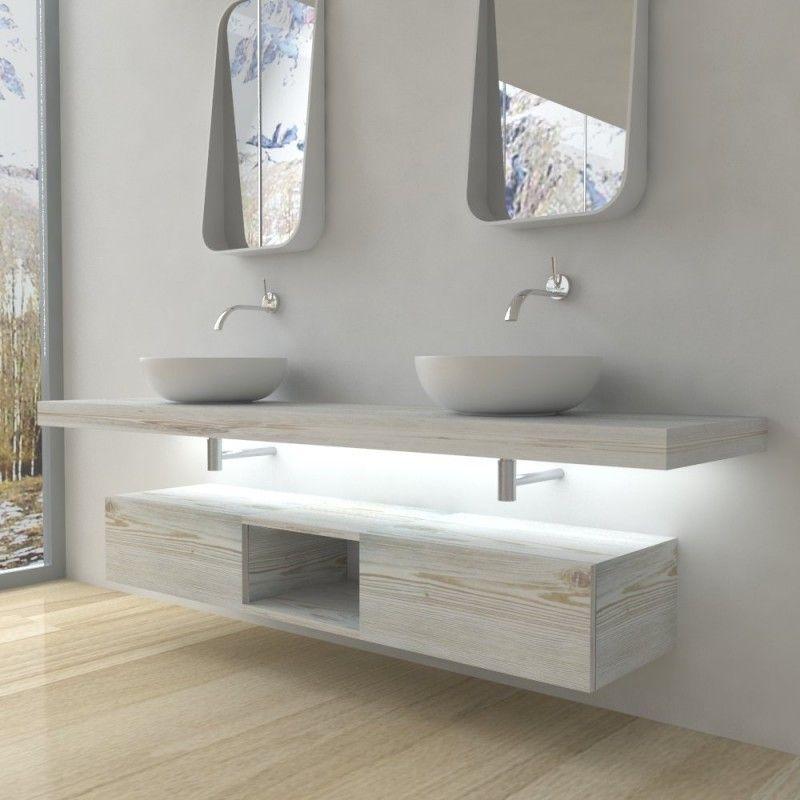 Mobili Bagno Mensola Per Lavabo Con Led Nel 2020 Arredamento Bagno Arredo Bagno Moderno E Bagno