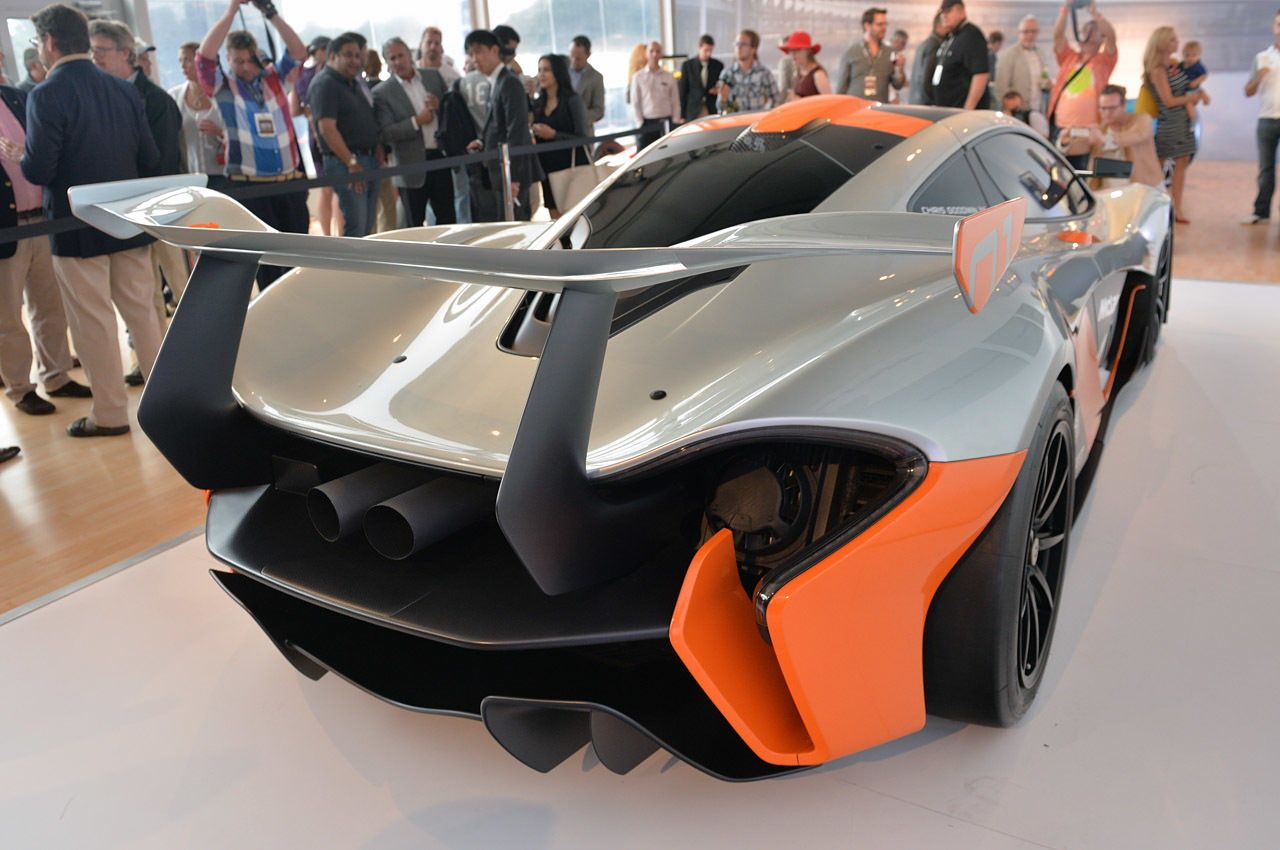 McLaren P1 GTR Design Concept rear side view