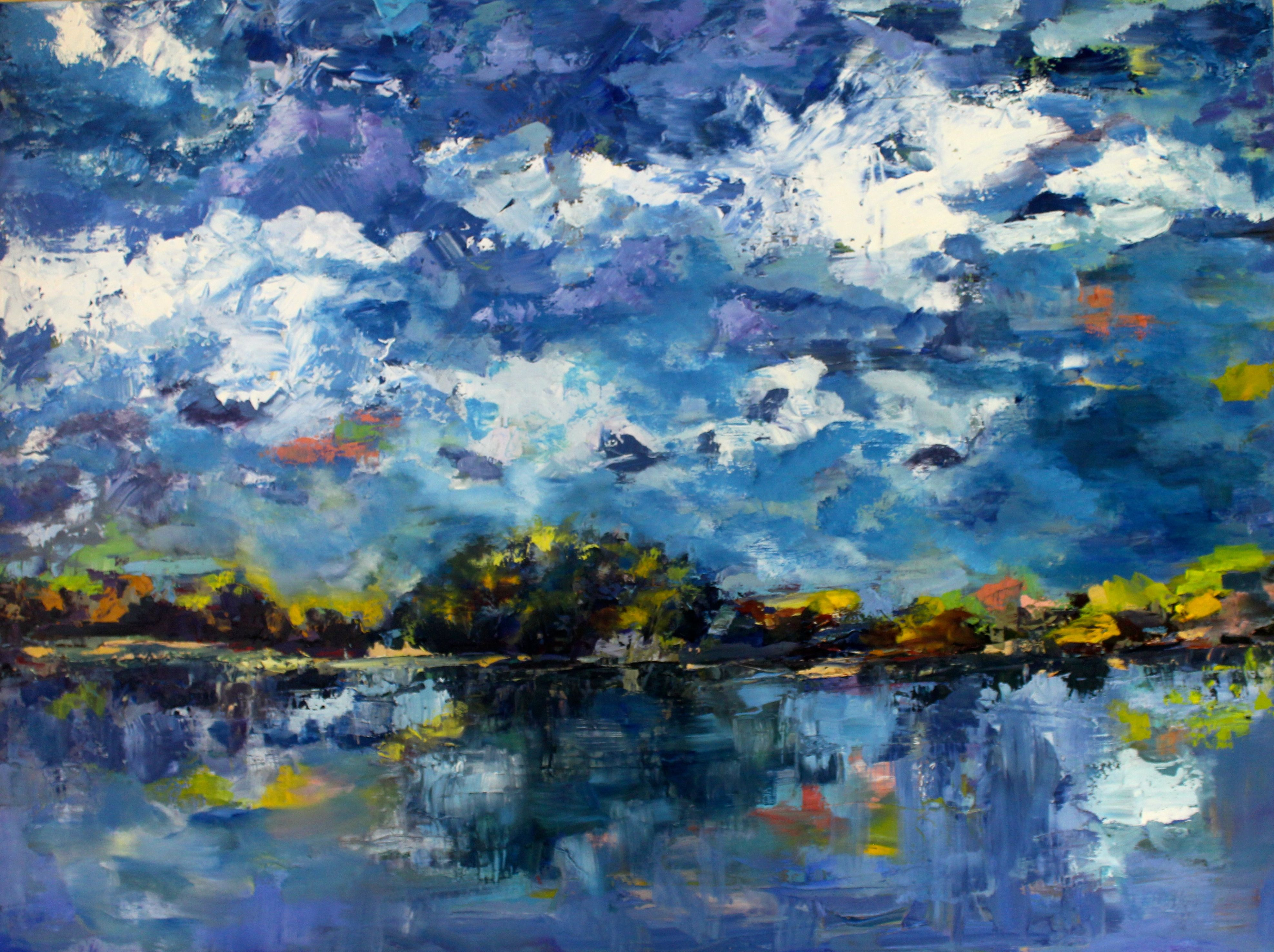 Across the River 30x40 oil on gallery wrap