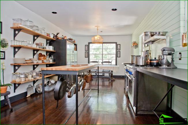 Cocina sin armarios superiores: 75 + Ideas funcionales sorprendentes ...