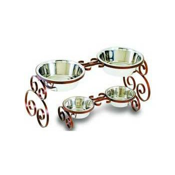 Scroll Wrought Iron Packaged Double Diner Quart