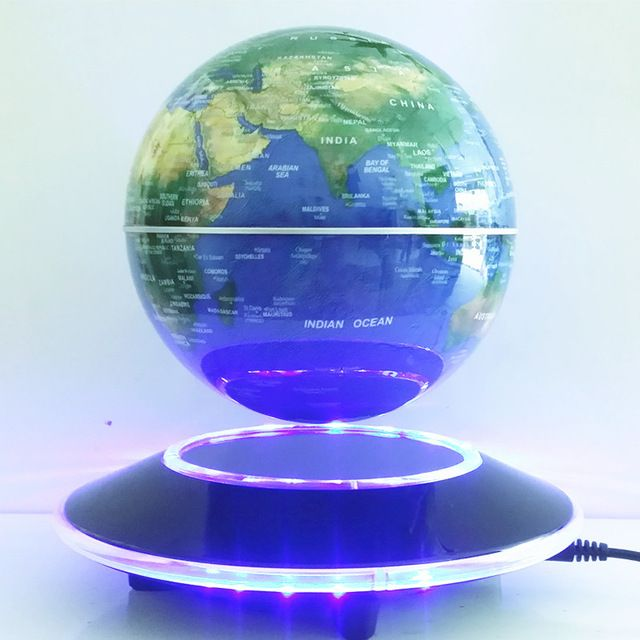 6 inch electronic magnetic levitation floating globe world map with 6 inch electronic magnetic levitation floating globe world map with led lights home office decoration business gumiabroncs Gallery