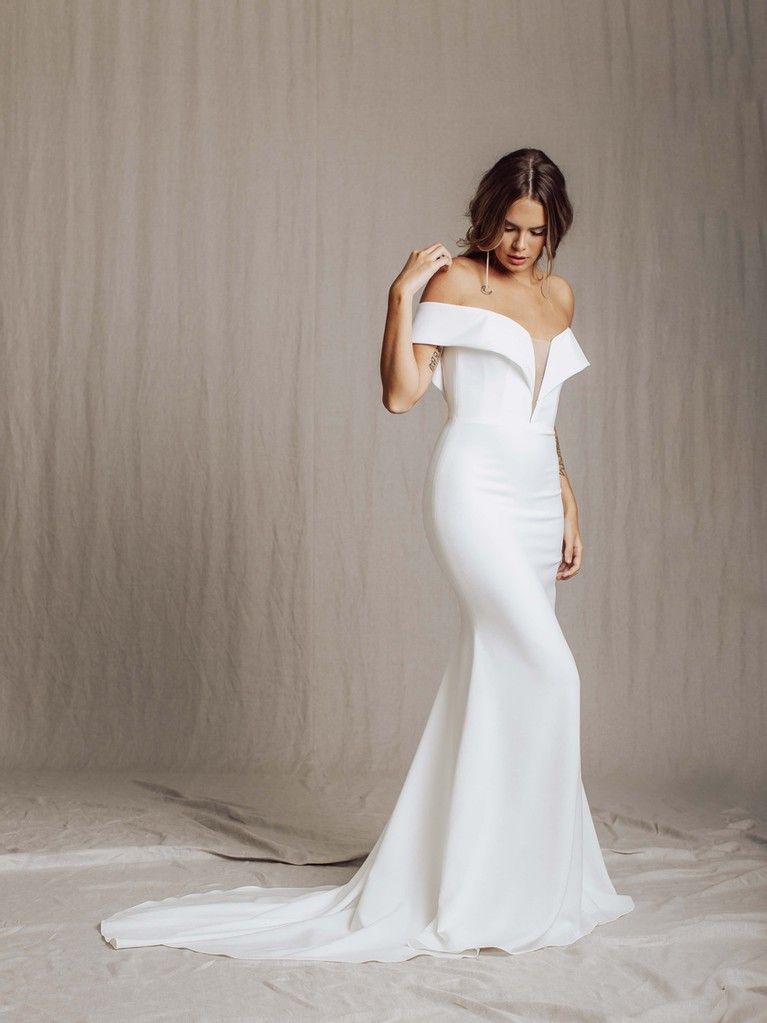 Nova Anais Anette In 2020 Simple Wedding Gowns Wedding Dress Brands Designer Wedding Dresses