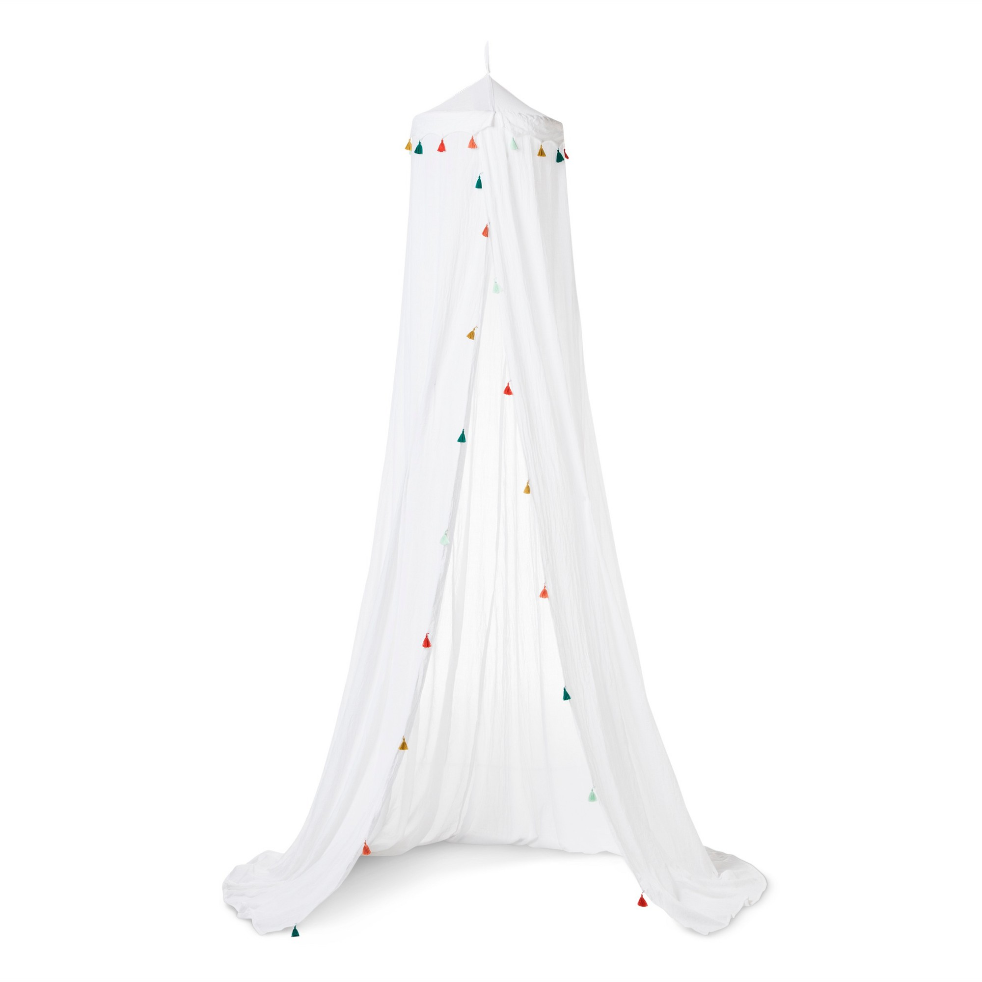 Tassel Bed Canopy One Size White Pillowfort Twin