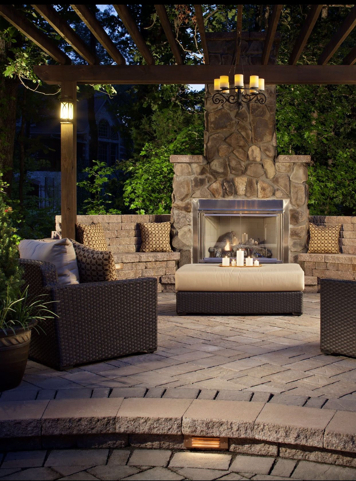 Pin By Aisha Watson On Decor Outdoor Fireplace Designs Patio