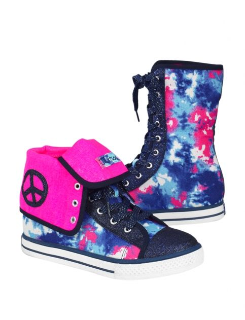 Dye Effect Fold Over Sneakers Girls Sneakers Shoes Shop Justice Justice Shoes Girls Sneakers Girls Shoes