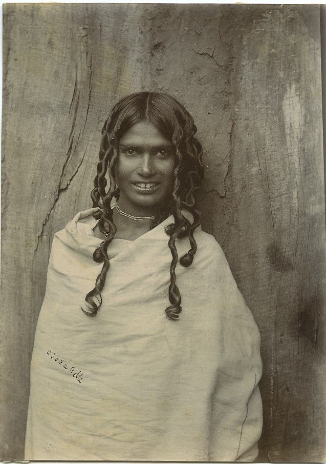 Toda Woman, India, 1890's. The Toda people are a small pastoral community who…