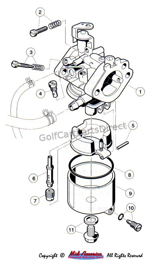 image result for yamaha golf cart 2 stroke engine carburetor