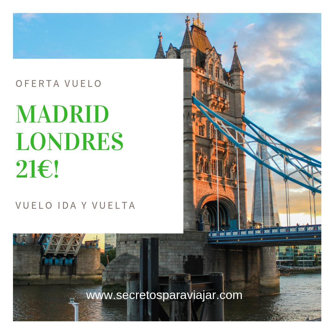 Oferta Vuelos Madrid Londres 21 Londres Viajes Vuelos