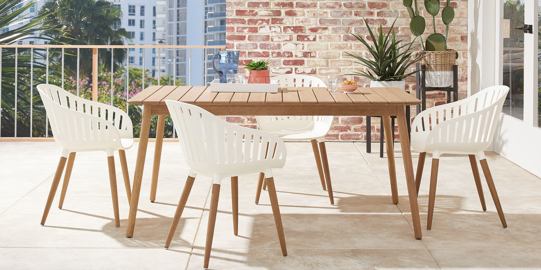 wood patio furniture outdoor dining