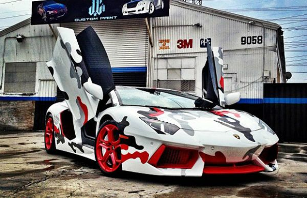 Chris Brown Fighter Jet Inspired Lamborghini Autos Celebrity