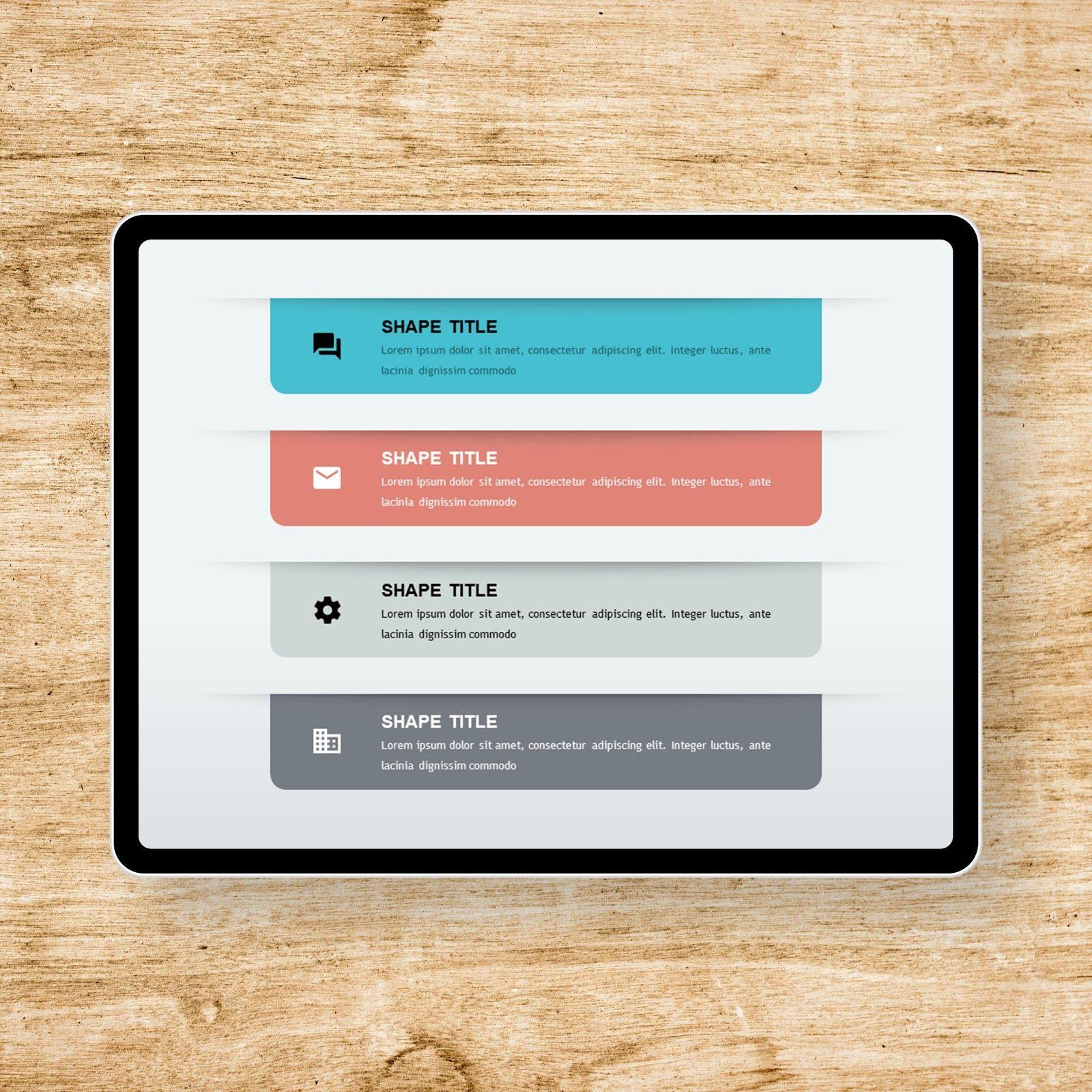 Vertical List Icon PowerPoint Templates 템플릿