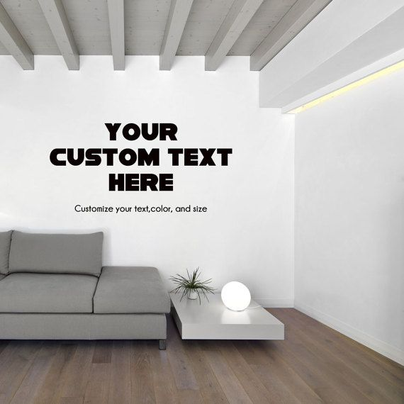 Custom Office Wall Decal Study Wall Decal Personalized Text Wall Decal  Custom Made Customize Size Color And Font