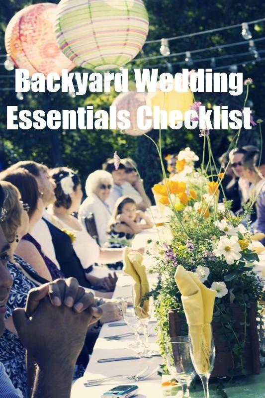 Casual Outdoor Wedding Reception
