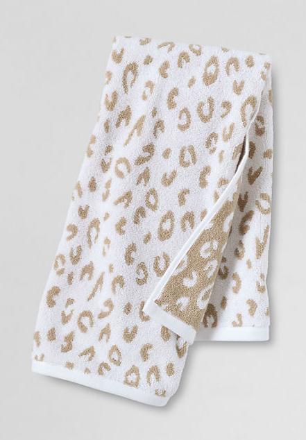 Lands End Leopard Print Towels Bride And Groom Gifts Powder Room Design Home Decor Furniture
