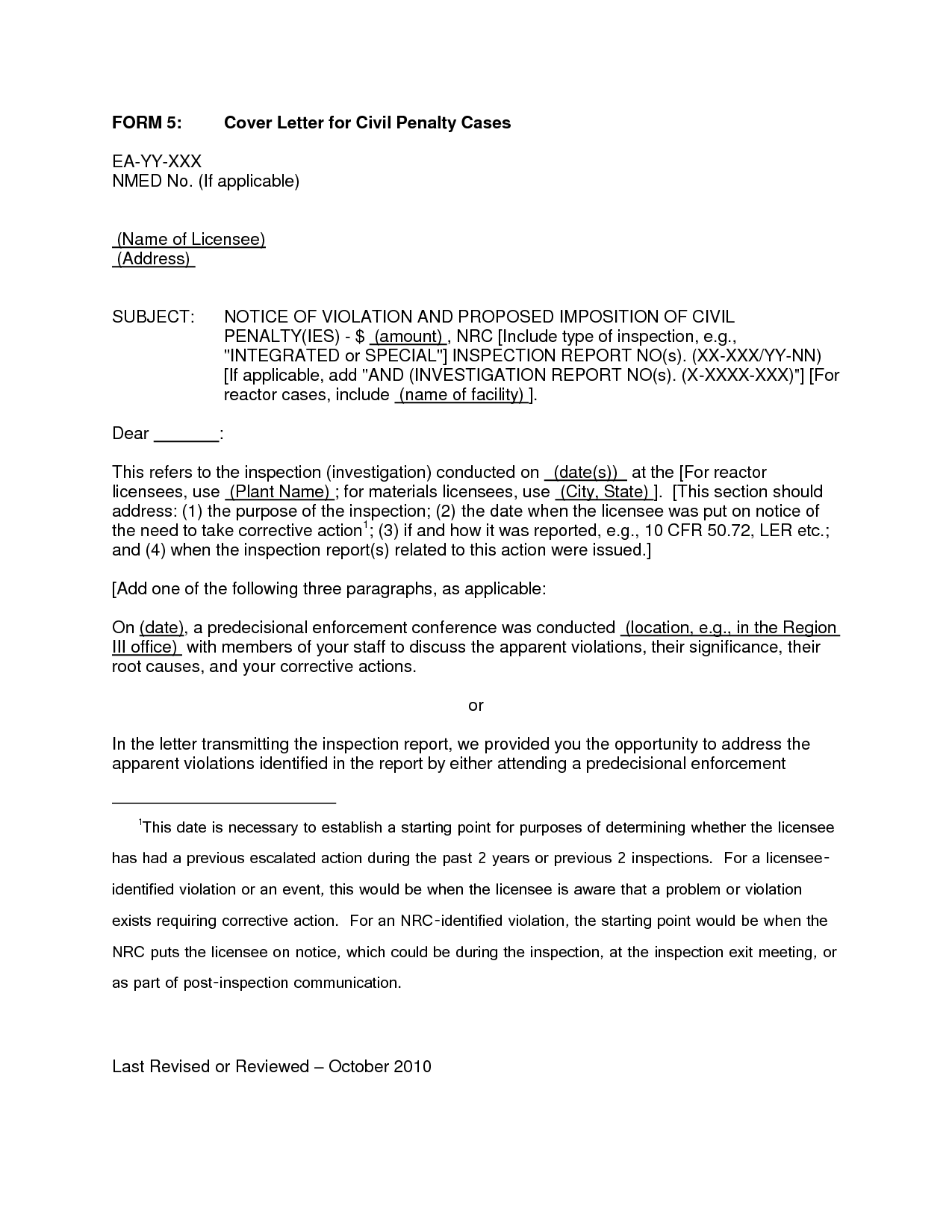 cover letter without recipient information