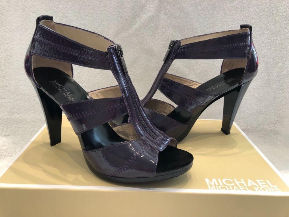 6485ef1d4de Michael Kors Berkley T-strap patent leather Purple heels Size 8  fashion   clothing  shoes  accessories  womensshoes  heels (ebay link)