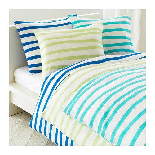 Leifarne chaise blanc ernfrid bouleau turquoise for Housse de couette taupe et turquoise