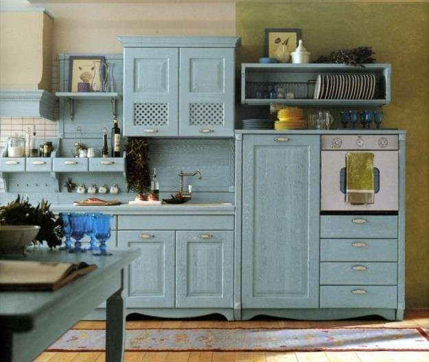 Idee colore pareti cucina - Cucina dal sapore country | Pinterest