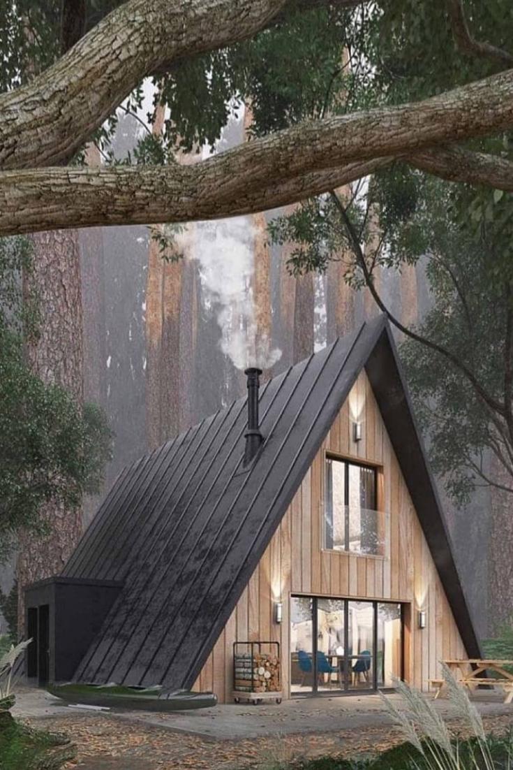 Top 4 Beautiful Rustic Cabin Home Ideas In 2020 Arhitectură Modernă Arhitectură Chalets