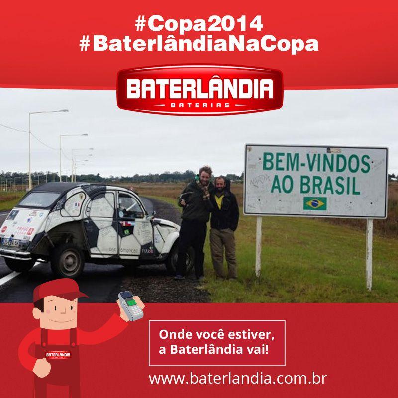 Olha este carro que veio especialmente para a Copa na Brasil! #Copa2014 #BaterlândiaNaCopa